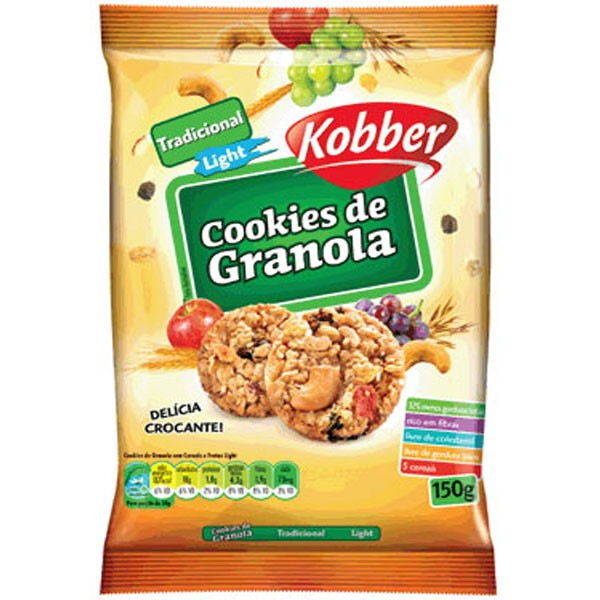 Cookies de Granola Light - 150g - Kobber
