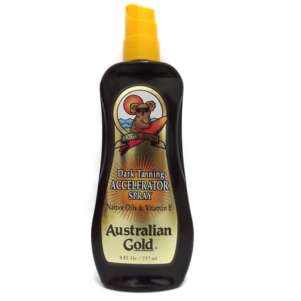 Dark Tanning Accelerator Spray  Gel Clean - 237ml - Australian Gold